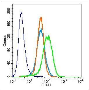 Flow cytometric analysis of H9C2 cell using Cardiac Troponin T antibody.