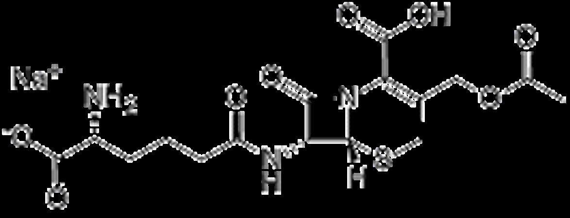 Chemical structure of Cephalosporin C Na salt