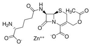 Chemical structure of Cephalosporin C zinc salt