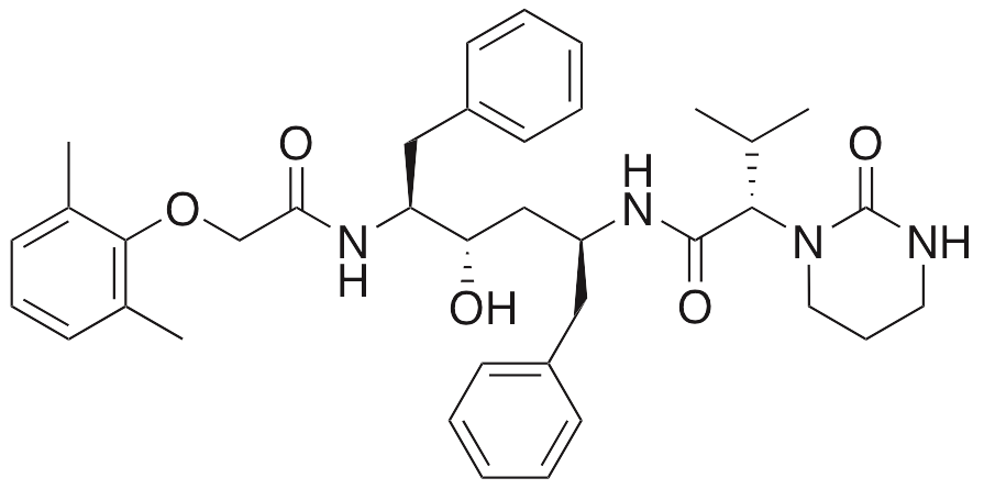 Chemical structure of Lopinavir