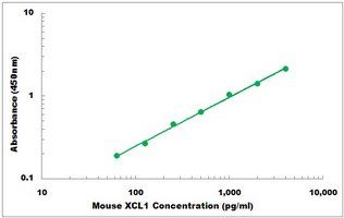 Representative Standard Curve of Mouse XCL1 ELISA Kit