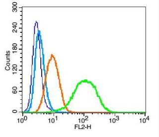 Flow cytometric analysis of U937 cell using Integrin alpha 4 antibody.