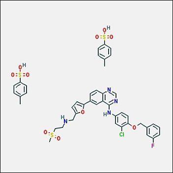 Chemical structure of Lapatinib, Di-p-Toluenesulfonate Salt