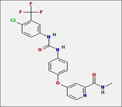 Chemical structure of Sorafenib, Free Base