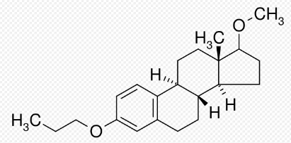 Chemical structure of Promestriene.