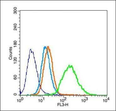 Flow cytometric analysis of H9C2 cell using Thymosin alpha 1 antibody.