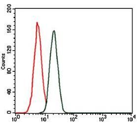 Flow cytometric analysis of MCF-7 cells using troponin T2 antibody